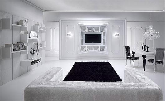 белоснежная гостиная