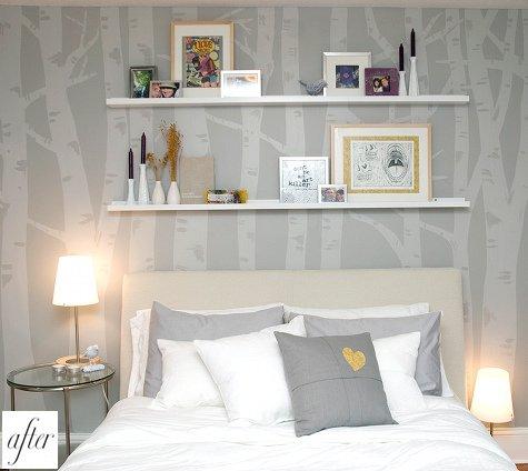 спальная комната в сером цвете