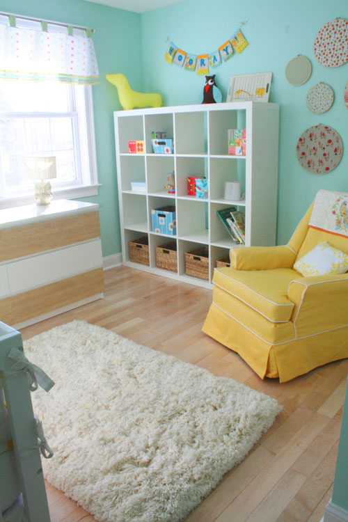 бирюзовая детская комната