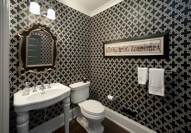дизайн ванной черного цвета - эффект пространственности