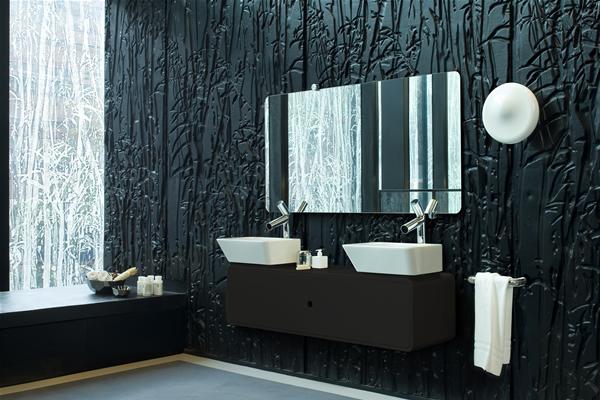 роскошная черная ванная