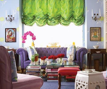 Цветы в интерьере гостиной (7)
