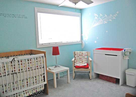 голубая детская комната