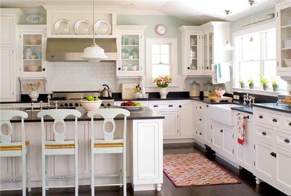 Кухня ретро интерьер