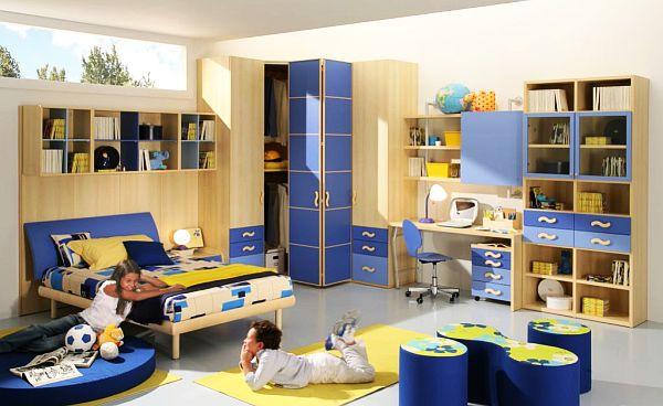 Яркий дизайн комнаты для мальчиков