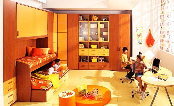 Оранжевое цветовое решения для комнаты мальчика