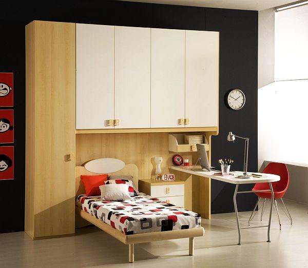 Модная минималистская комната для парня-подростка