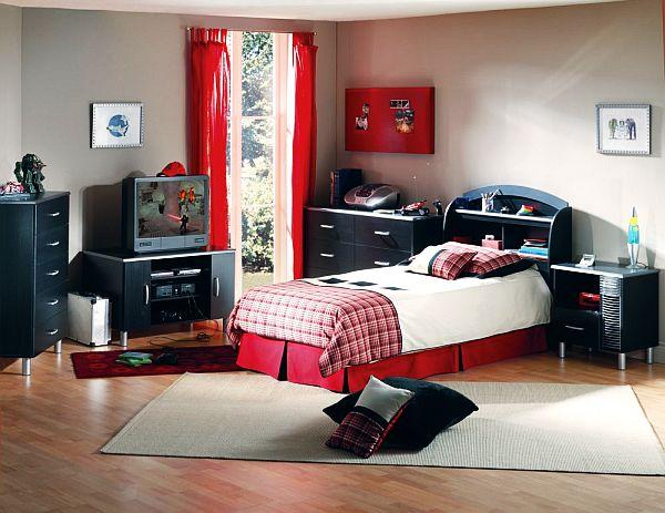 Контрастный дизайн комнаты для мальчика