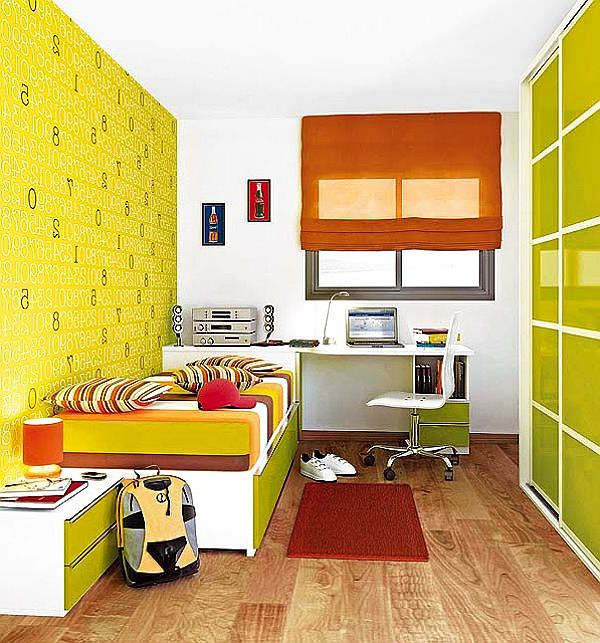 Яркая комната для мальчика-подростка