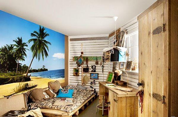 Дизайн комнаты для мальчика в тропическом стиле
