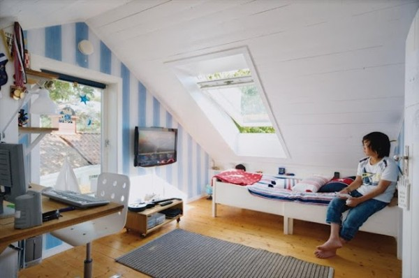 Teenage girl attic bedroom ideas