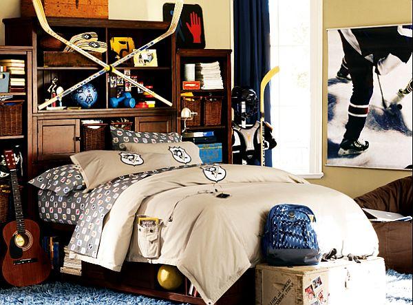 Комната для мальчика фаната хоккея
