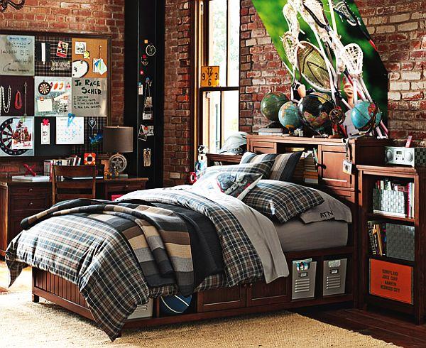 Спальня для мальчика подростка с уютным пледом