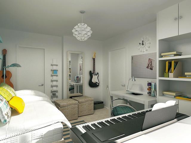 Комната для подростка увлекающегося музыкой