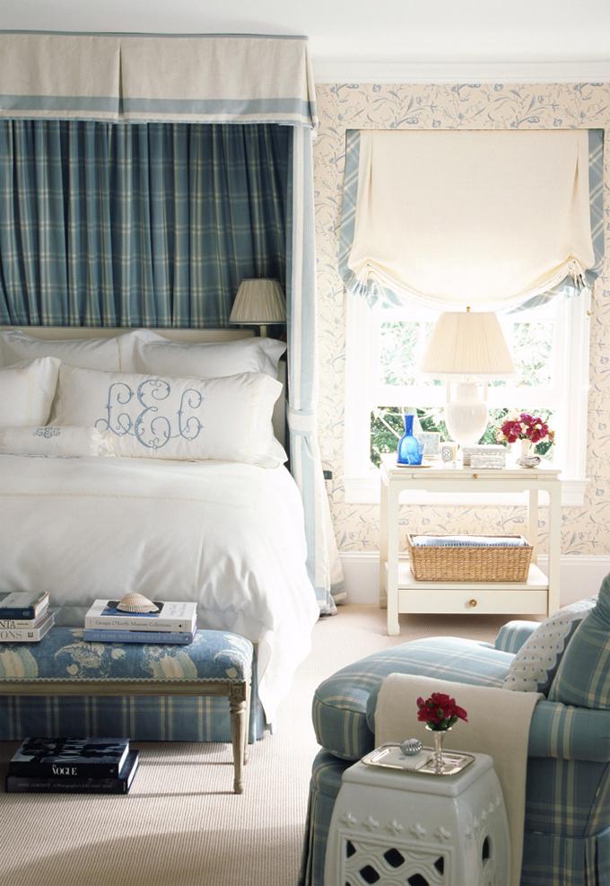 красивый интерьер нежной спальни