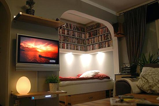 как сочетать гостиную и спальню