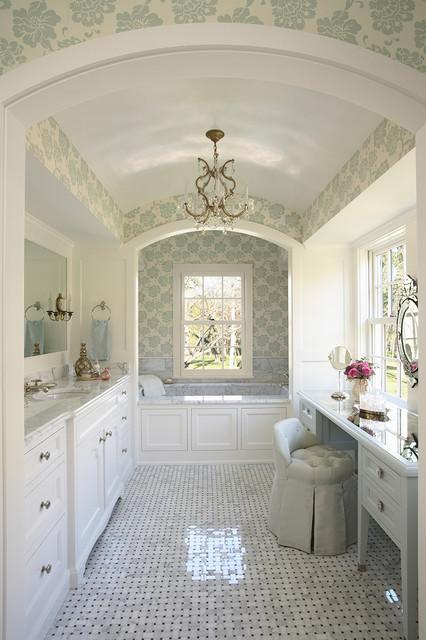 идеи для ванной - #3. Роскошная ванная в традиционном стиле