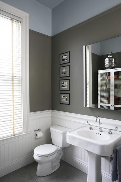 идеи для ванной - #2. Приглушенный серо-голубой интерьер
