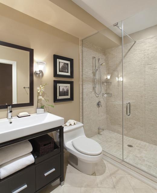 идея ванной комнаты - дизайн интерьера ванной в бежевых и кремовых тонах