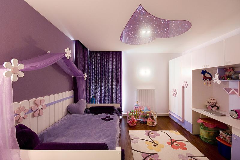 фиолетовый дизайн для подростка девочки