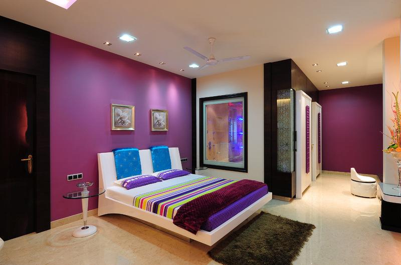 комната для подростка девочки с контрастными цветами