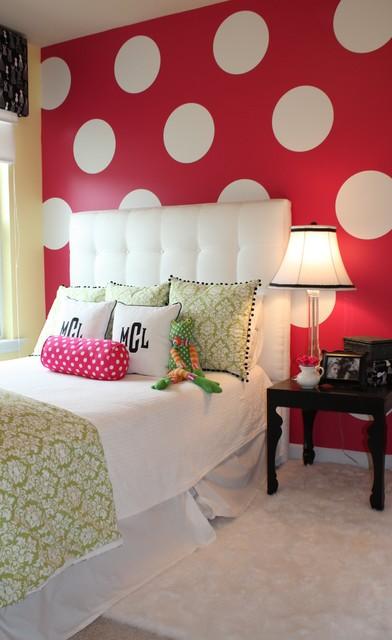 эклектичная спальня для подростка девочки