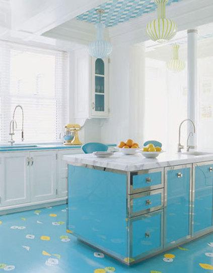 синяя кухня фото 2