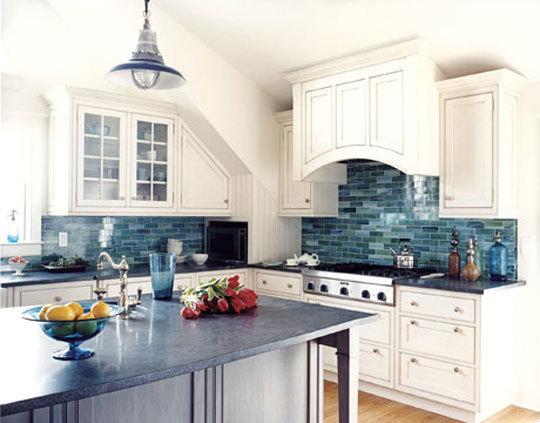 синяя кухня фото 3
