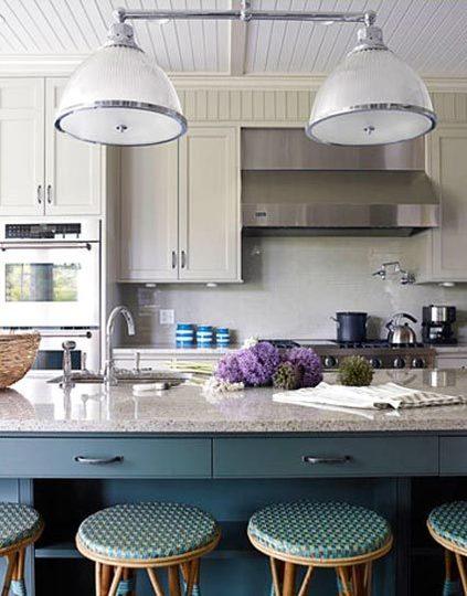 синяя кухня фото 4