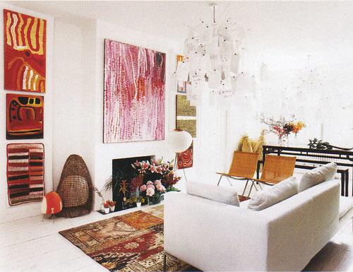Дизайн стен гостиной