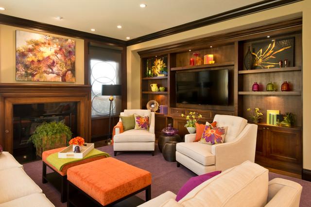 дизайн классической семейной гостиной