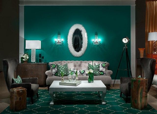 дизайн гостиной - оригинальный и гармоничный