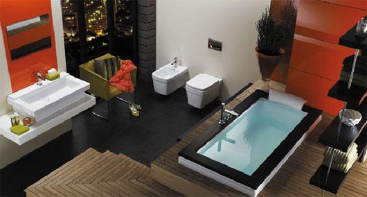 Разноцветная ванная комната