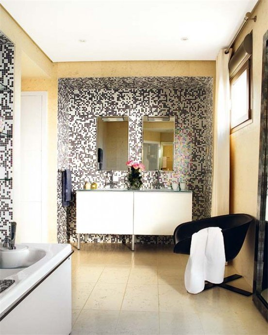 мозаичный дизайн ванной фото