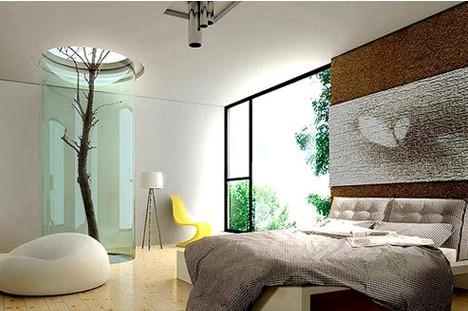 Современная стильная спальня