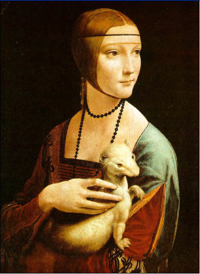 «Женщина с горностаем», Леонардо да Винчи