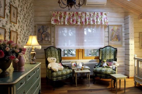 пример оформления детской комнаты в частном доме