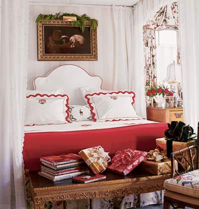 Яркая спальня для холодов
