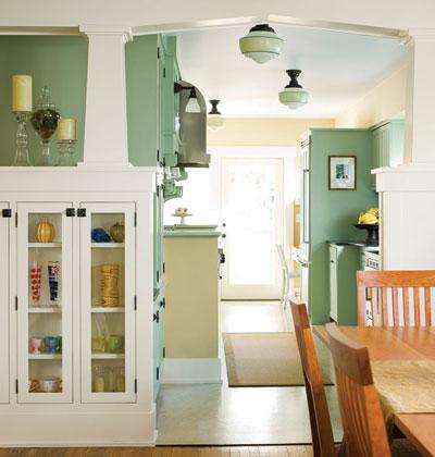зеленая кухня фото