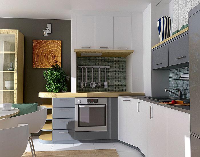 Кухня в квартире серии И 79-99