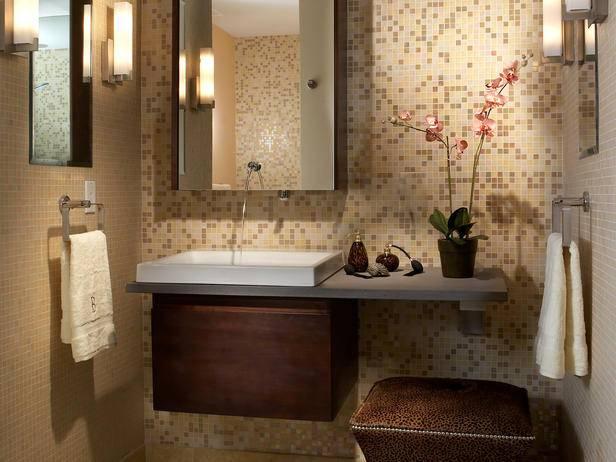 Дизайн ванной комнаты мозаичной плиткой фото