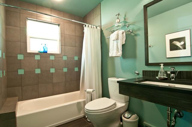 дизайн интерьера эклектичной ванной