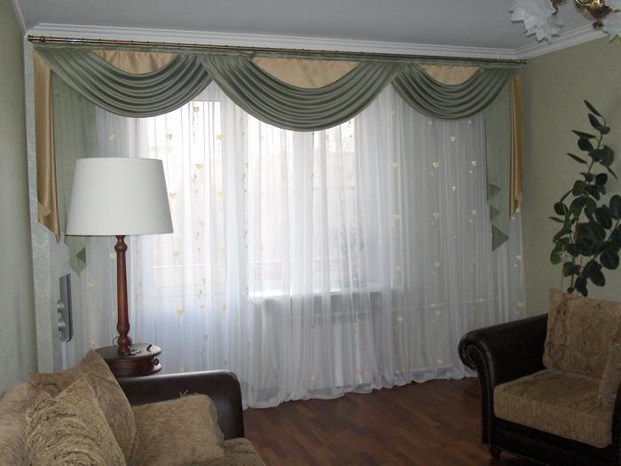 Шторы на окна в гостиную
