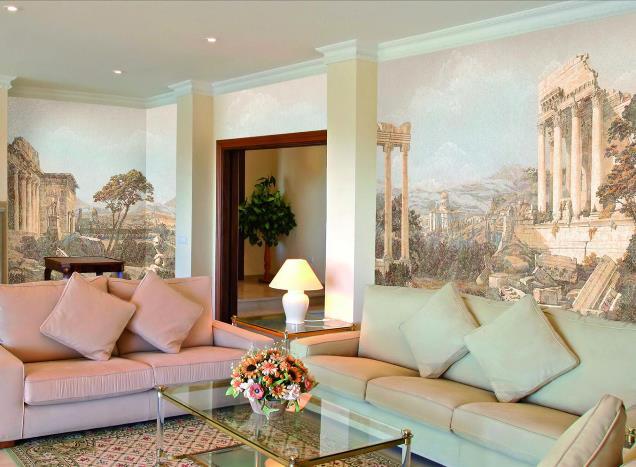 Фрески для интерьера гостиной