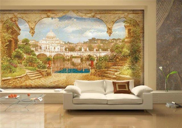 Большая фреска в гостиной