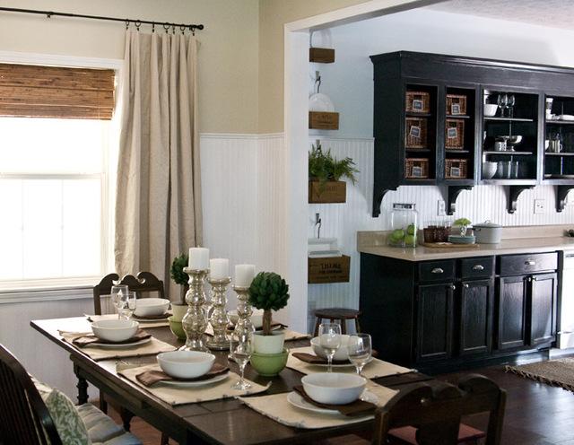 кухня столовая - фото комнаты в классическом стиле