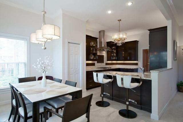 Элегантный дизайн кухни и столовой