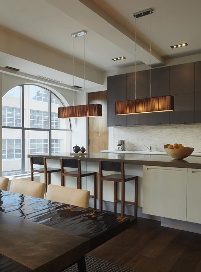 фото кухни столовой с барной стойкой