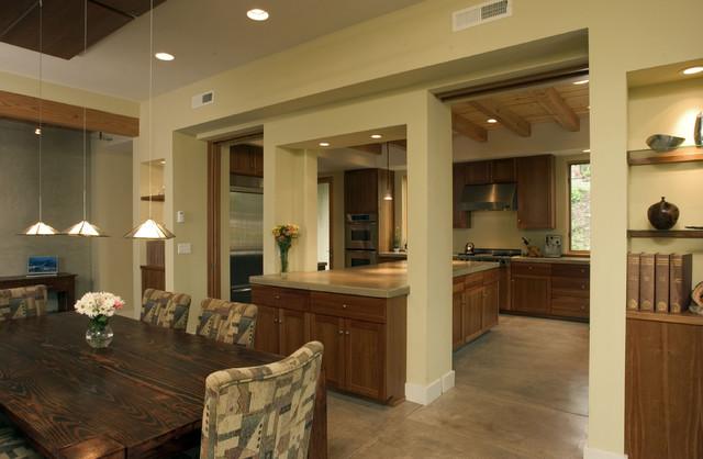 Кухня столовая - интерьер после объединения комнат