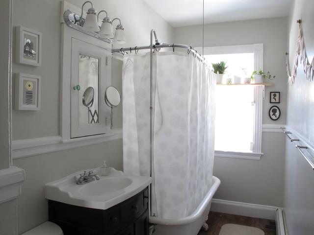 Эклектичный дизайн ванной комнаты